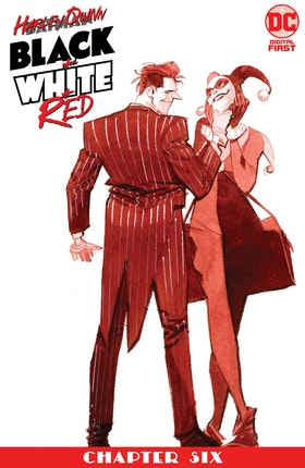 Harley Quinn Black + White + Red #6
