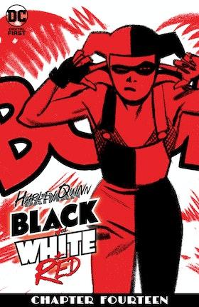 Harley Quinn Black + White + Red #14