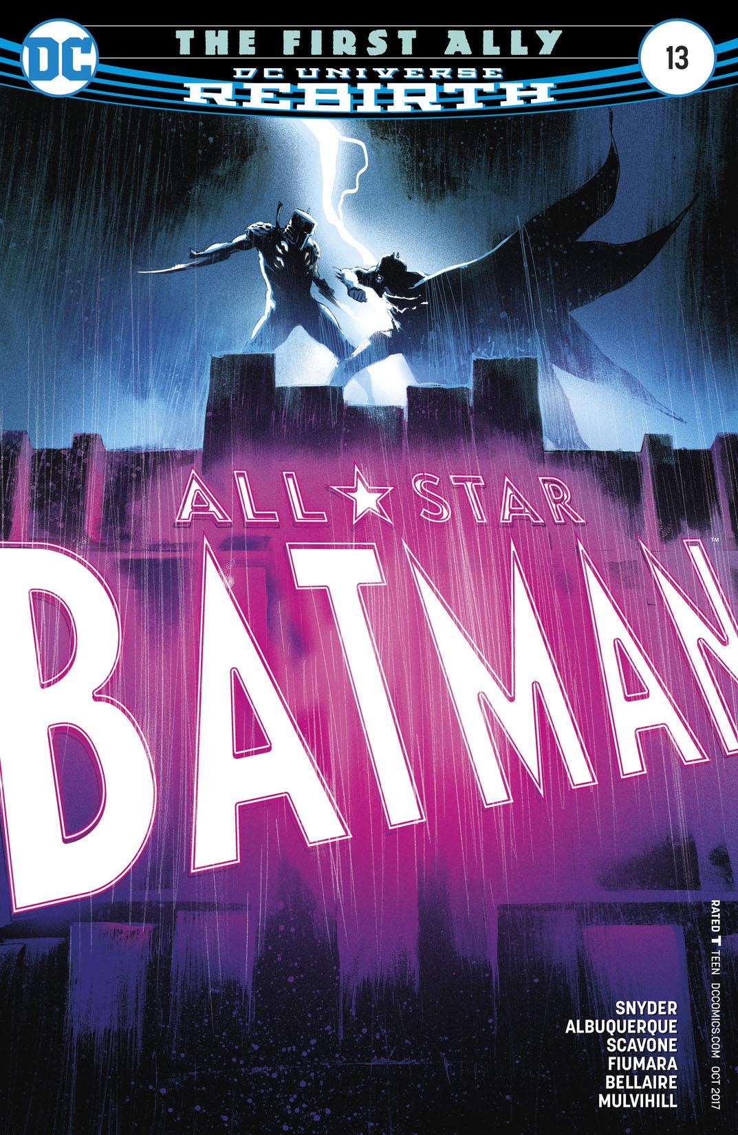 ALL STAR BATMAN #13 8//30//17