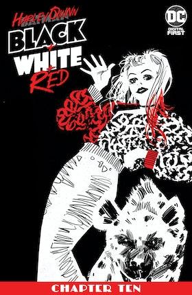 Harley Quinn Black + White + Red #10