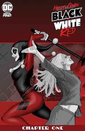 Harley Quinn Black + White + Red #1