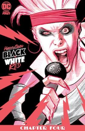 Harley Quinn Black + White + Red #4