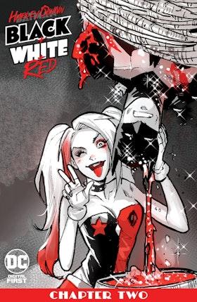 Harley Quinn Black + White + Red #2