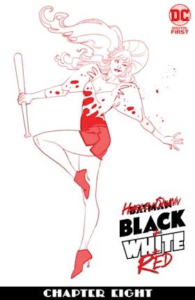 Harley Quinn Black + White + Red #8